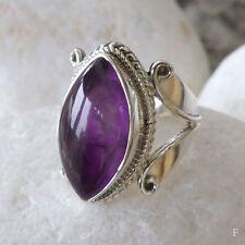 Echte Edelstein-Ringe mit Amethyst und Marquise/Navette für Damen