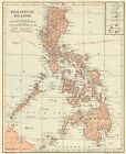 1914 Antique PHILIPPINES Map VINTAGE Map of the Philippine Islands Map 8440