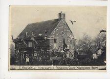 H MacDonald Woodcarver Woolmer Garden Knebworth Hertfordshire Postcard 546b