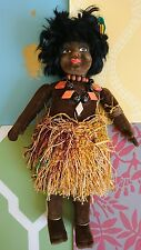 Vintage Cloth Doll Norah Wellings Style South Sea Islander 1920s 1930s VGC 12""