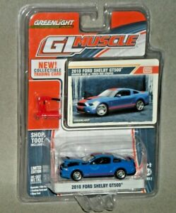 1/64th Greenlight Muscle S2 2010 Ford Shelby GT500 Grabber Blue
