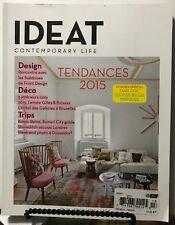 Ideat Tendances Design Deco Trips Dossier Special Fevrier 2015 FREE SHIPPING JB