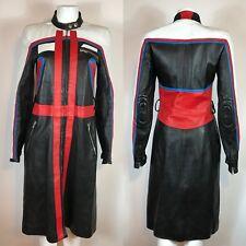 Rare Vtg Dolce & Gabbana Leather Motorcycle Dress S SS2001