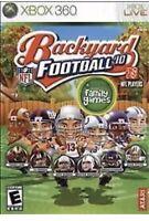 Backyard Football '10 Xbox 360 Kids Game 2010 NFL Rare Collectible