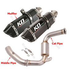 Exhaust Mid Cat Pipe Link 51mm Muffler Modified For Duke 250 390 RC390 2017-2020