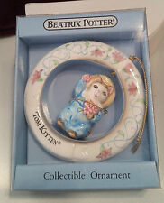 1988 SCHMID BEATRIX POTTER TOM KITTEN COLLECTIBLE ORNAMENT IN ORIGINAL BOX