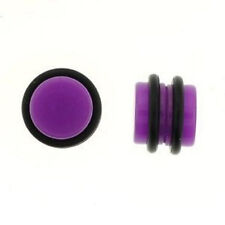 Magnetic Acrylic Colorful Fake Cheater Ear Plugs Earrings Looks 0G 8mm 1 Pair