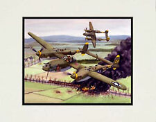 """P38 Lightning, Europe. 1945"" 11x14 Print by  artist Garry Palm"