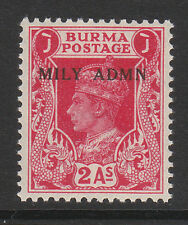 BURMA 1945 2a CARMINE SG 41 MNH.