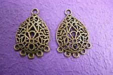 4pc antique bronze metal connectors-1554