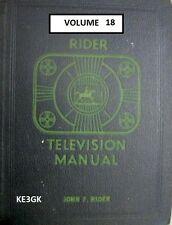Riders Television Manual * Volume 18 * CDROM * PDF * TV Schematics