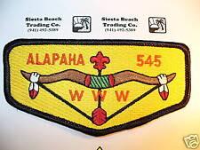 OA Alapaha Lodge 545, S-22,1990s,BLK Bdr,HOR Bkd,ORG Let,Flap,353,98,Valdosta,GA