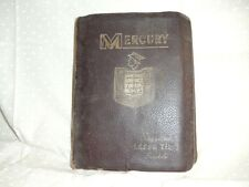 Antique Mercury Lincoln Suggested Labor Time Schedule Manual 1959-1962