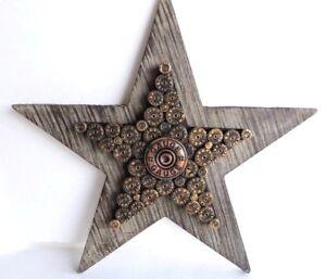 12 Gauge Shot Gun Shell Star Wood Decor 12x12inches Rustic New  Distressed