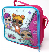 LOL SURPRISE SCHOOL LUNCH BAG THERMAL INSULATED SHOULDER STRAP PINK DOLLS HANDLE