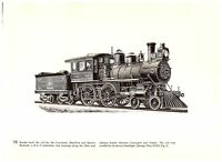 Brooks Cincinnati Hamilton Dayton/Great Northern Railroad Mastodon Train print