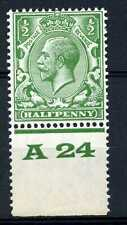 1/2d Green, Block Cypher Control A24 perf, UNMOUNTED MINT / MNH. SG418.