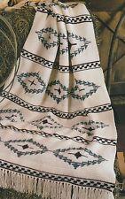 Crochet Pattern ~ Navajo Blanket Afghan ~ Instructions