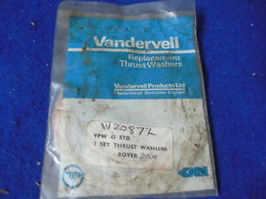 NOS Vandervell Thrust Washer Set Rover 2000 2000TC W2087C