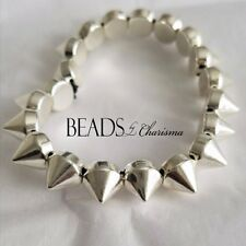 Beads by Charisma Spiked Fashion Bracelet, Silver, Trendy, Custom