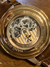 Dreyfuss & Co. SEAFARER Hand Made Automatic Swiss Watch Skeleton Crystal Back