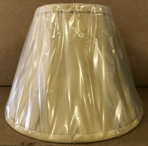 """PANELLED EMPIRE 10"""" FULLY LINED LAMPSHADE IN CHAMPAGNE MAX: 60W BRAND NEW SEALED"""