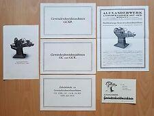 5 x Prospekte mit Postkarte Alexanderwerk Gewindeschneidmaschinen ( F16489