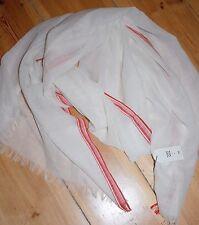 Noa Noa Acc. Woll -Tuch Wool Big Scarf  Border Print White one size Neu