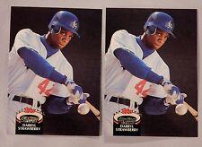 1992 Topps Stadium Club  Darryl Strawberry Dodgers #560 Baseball Card lot of 2