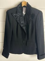 Zelda Black Blazer Jacket Size 6 Made in the USA