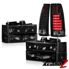 1994-1998 Chevy Silverado Tahoe Suburban Smoke Headlight LED Tail Lights COMBO