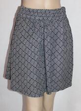 GIRLXPRESS Brand Black White Print Skater Skirt Size 16 BNWT #sT04