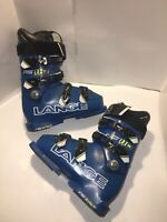 Lange RS 110 Race Ski Boots 24-24.5 sz 6-6.5 US 286mm Blue/Black Youth Men's