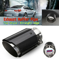 66mm- 89mm Universal Carbon Fiber Car Auto Exhaust Pipe Tail Muffler Ends Tip