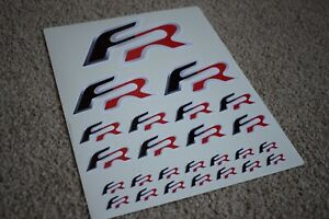 Seat FR Emblem Badge Logo Car Race Racing Rally Ibiza Leon Decal Stickers