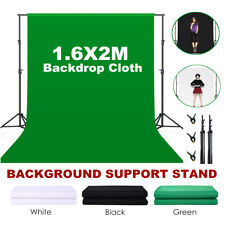 Photo Studio Background Support Stand Kit Black White Green Screen Backdrop Sets
