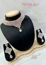 Ethnic Fashion Indian Bollywood Jewelry Rose Gold Plated Bridal Necklace Set