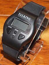 Talking Wrist Watch Alarm Black Unisex Sports Digital Silicon Adjustable Straps