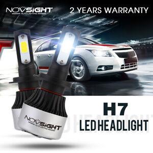 NOVSIGHT  72W 9000LM H7 LED Headlight Bulbs Car Lamp Replacement Halogen White