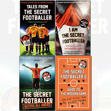Secret Footballer 4 Books Set Pack Access All Areas,Guide to the Modern Game NEW