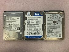 "Lot of 3, Toshiba 750GB, Hitachi 750GB, WD 160GB, 2.5"" Internal Hard Drives"