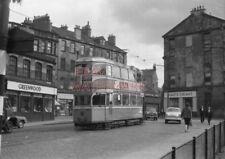 PHOTO  GLASGOW TRAM NO 1219 IN LONDON ROAD AT GREENDYKE STREET 30/8/62
