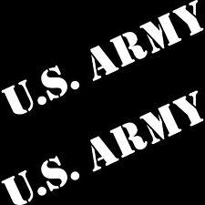 2 Aufkleber 50cm weiß US Army Auto Tattoo Schriftzug Fahrzeugfolie Autoaufkleber