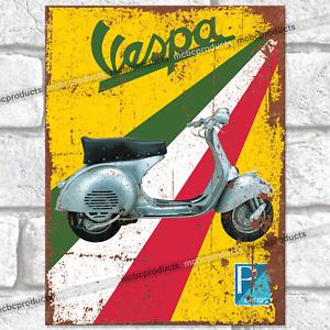 VESPA PIAGGIO Metal Signs Vintage Retro Man Cave Wall Plaque Moped Tin Sign UK
