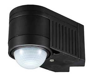 PIR Infrared Motion Sensor Black Outdoor 360 Degree detect NEW IP44 Certified