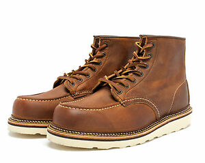 """RED WING 6""""MOC TOE BOOTS STYLE1907 MADE IN THE USA WIDTH D"""