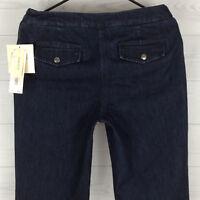 Jones New York Sport Women's Size 6 Stretch Dark Wash Wide Leg Denim Jeans NWT