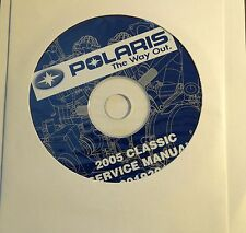 2005  POLARIS SNOWMOBILE CLASSIC SERVICE MANUAL CD P/N 9919301-CD (708)