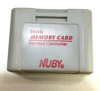 256KB N64 Controller Memory Card Nintendo Nuby Brand Tested Working - Saves!
