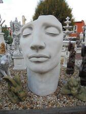 Statue, Maske, Gesicht, Steinguss, 140 cm Büste, Steinfigur, Gartendekoration